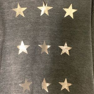 JET by John Eshaya Tops - JET by John Eshaya Stars Sweatshirt in Gray Size S